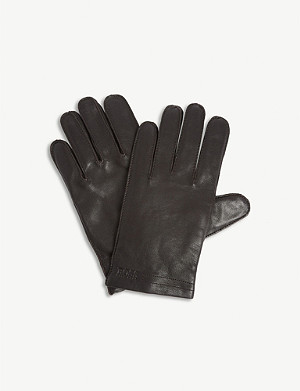 BOSS Leather gloves