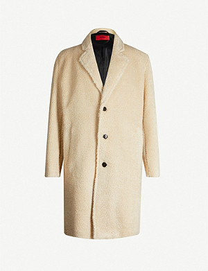 HUGO Regular-fit faux-shearling coat