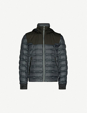 BOSS Stretch-crepe down jacket