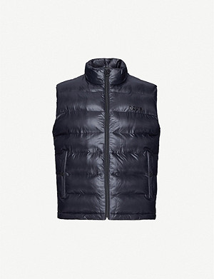 HUGO Logo-print shell-down gilet