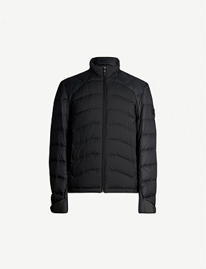 BOSS Funnel-neck shell-down jacket