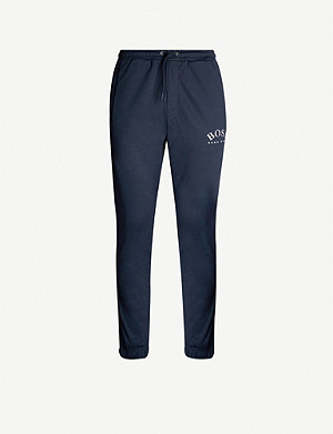 BOSS Branded-tape trim cotton-blend jogging bottoms