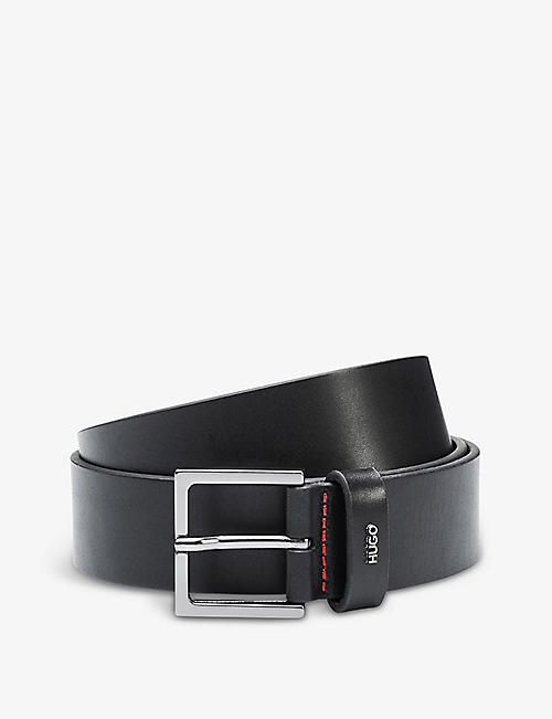 HUGO: Logo leather belt