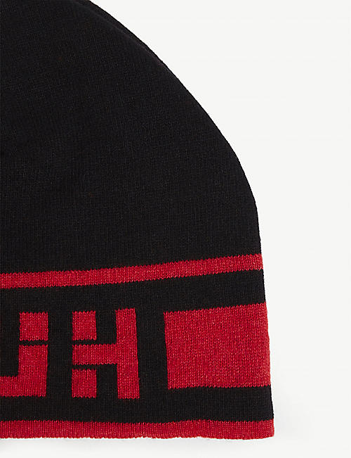 HUGO Wool and cashmere beanie hat
