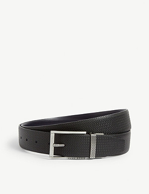 BOSS Monogram leather belt
