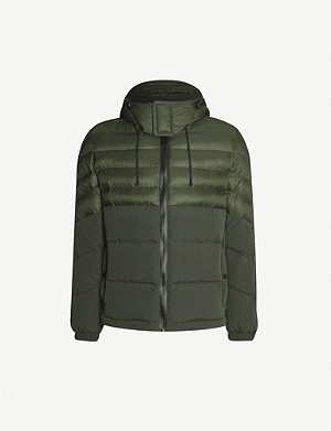 BOSS Water-repellent hooded shell jacket