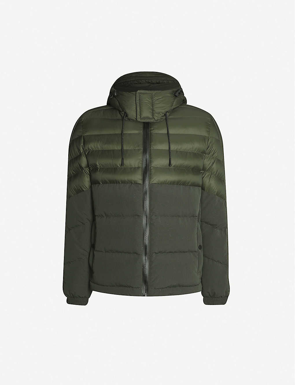 BOSS: Water-repellent hooded shell jacket