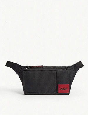HUGO Mirrored logo nylon belt bag
