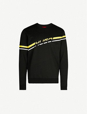 HUGO Logo cotton-jersey sweatshirt