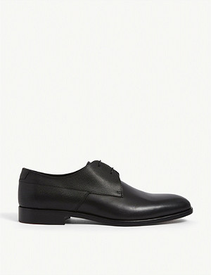 HUGO Slip on leather Derby shoes