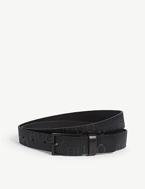 HUGO Logo-embossed belt