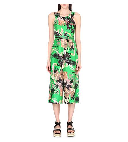8c156c09c179 WHISTLES Lilias jungle-print silk jumpsuit (Multi-coloured