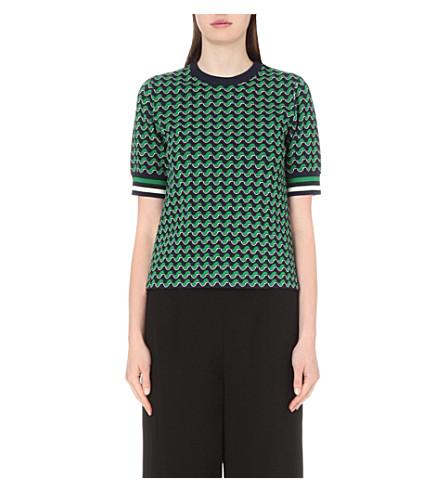 style limité paquet à la mode et attrayant code promo WHISTLES - Foulard jacquard knitted top | Selfridges.com