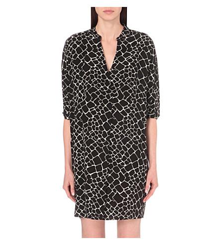 ea8a9ad03a ... WHISTLES Giraffe-print woven dress (Black. PreviousNext