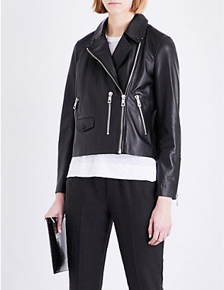 WHISTLES: Agnes leather biker jacket