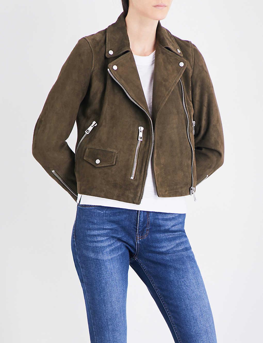 789ad21b9 Agnes suede biker jacket
