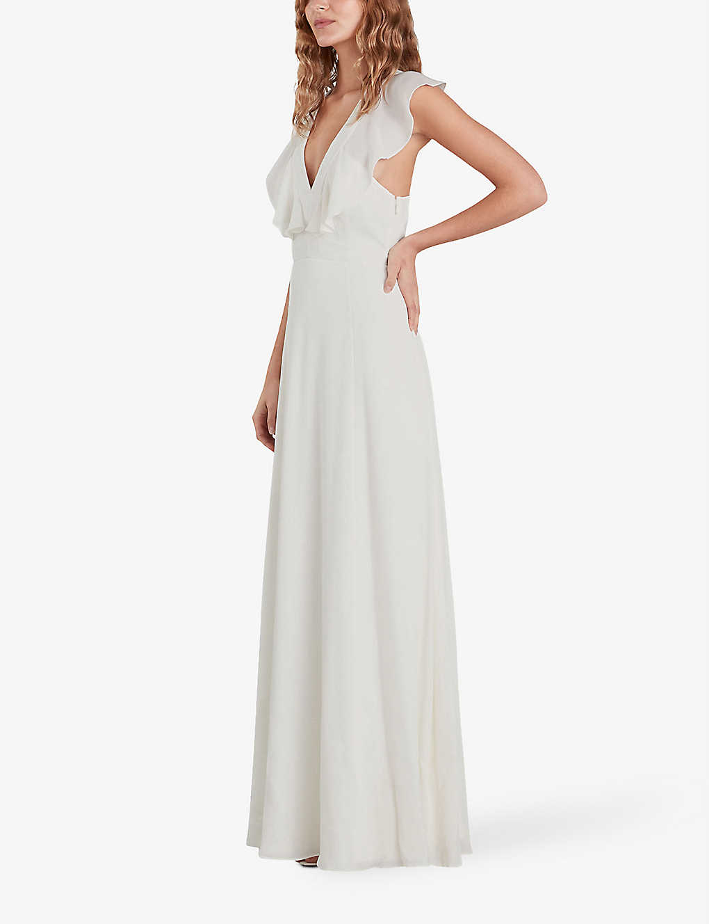 WHISTLES: Eve ruffled silk wedding dress