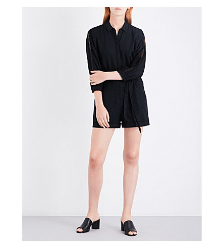 amazing quality hot-selling genuine meticulous dyeing processes WHISTLES - Elaine woven playsuit | Selfridges.com
