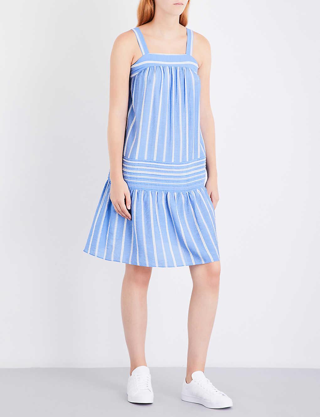 65d7989fb37 WHISTLES - Simone striped woven sun dress