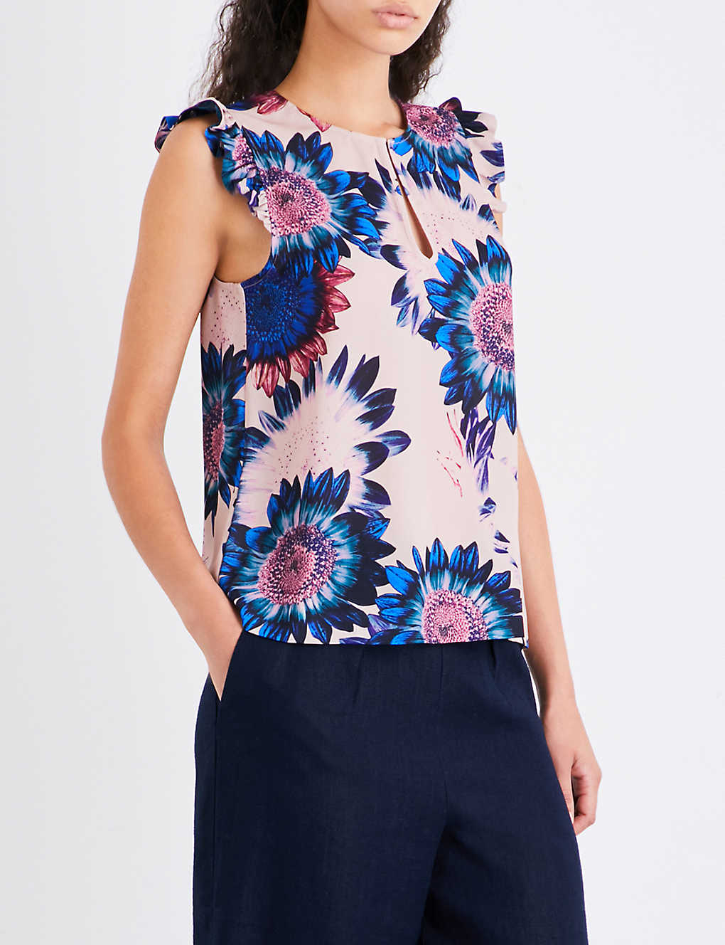 65c359911 WHISTLES - Sunflower crepe top | Selfridges.com