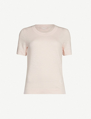 WHISTLES Rosa double-trimmed jersey T-shirt
