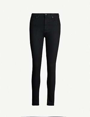 WHISTLES Skinny mid-rise jeans