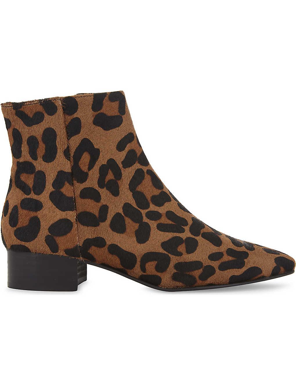 2ba9f60f98c9 WHISTLES - Berwick leopard-print ankle boots   Selfridges.com