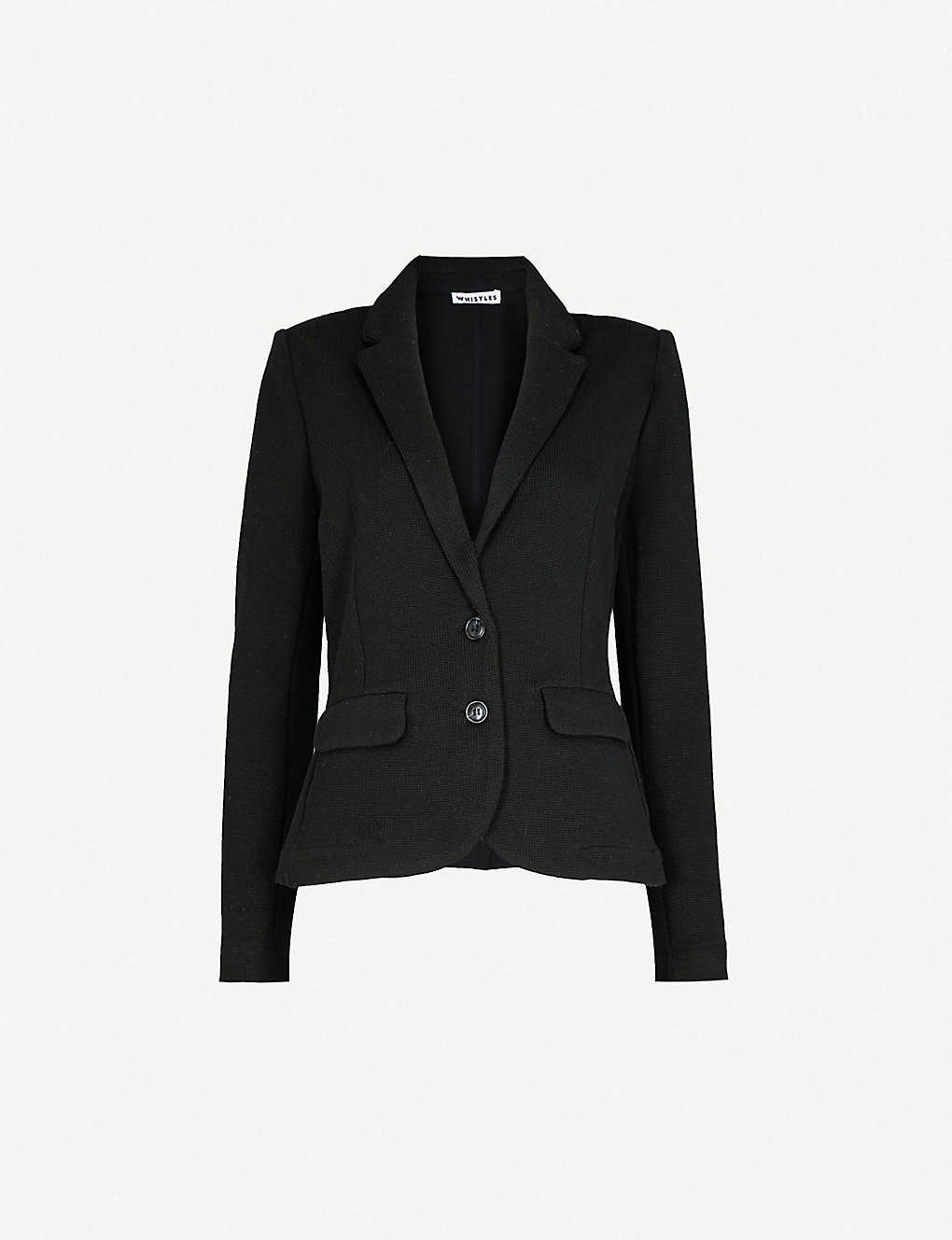WHISTLES: Cotton-jersey blazer