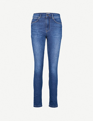 WHISTLES Skinny slim-fit mid-rise jeans
