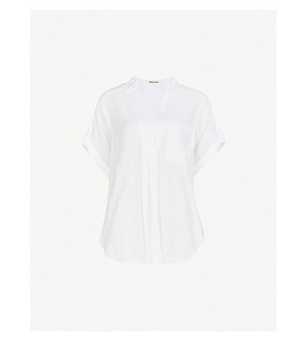 511a7d412f0645 WHISTLES Lea woven shirt (White