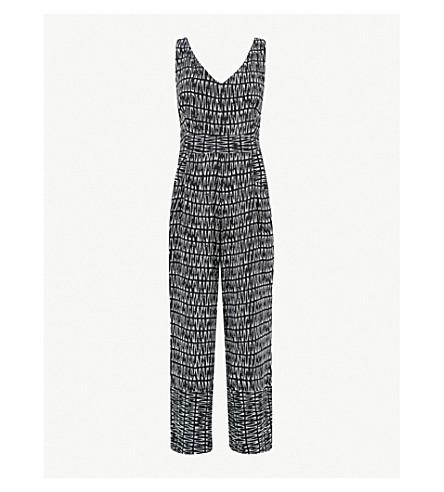 daf85008435d WHISTLES Mara printed woven jumpsuit (Black
