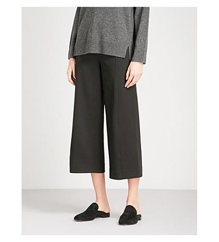 dbd3267845af8 ... WHISTLES Ponte wide-leg woven pants (Black. PreviousNext