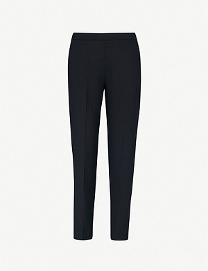 WHISTLES Anna slim-fit woven trousers