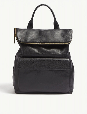 WHISTLES Verity grained leather backpack