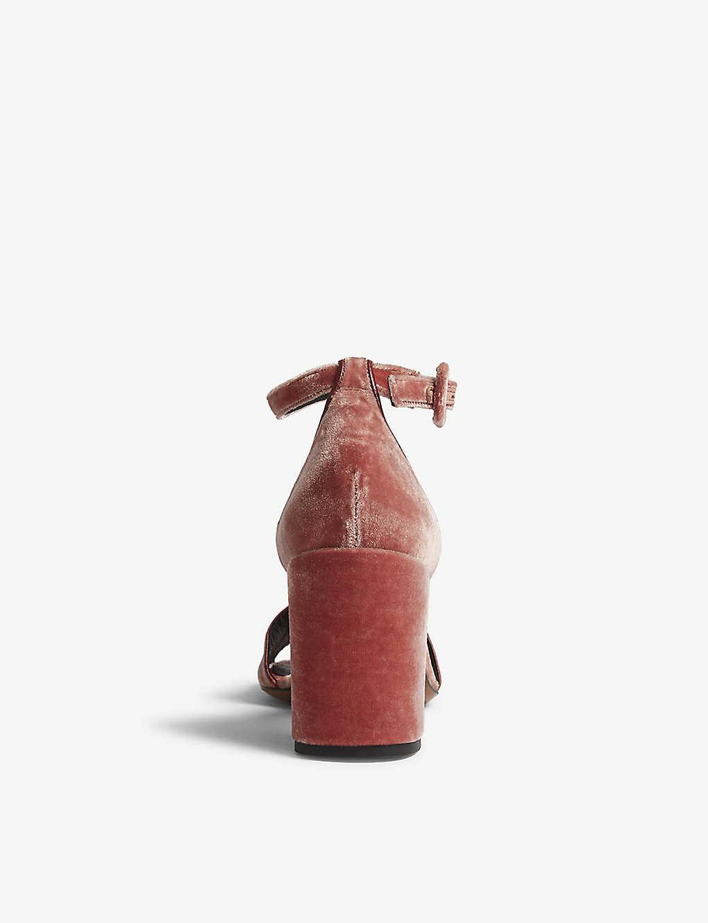 b06980b0833 WHISTLES - Hedda velvet block heel sandals