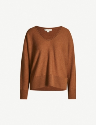 WHISTLES Scoop-neck cashmere jumper