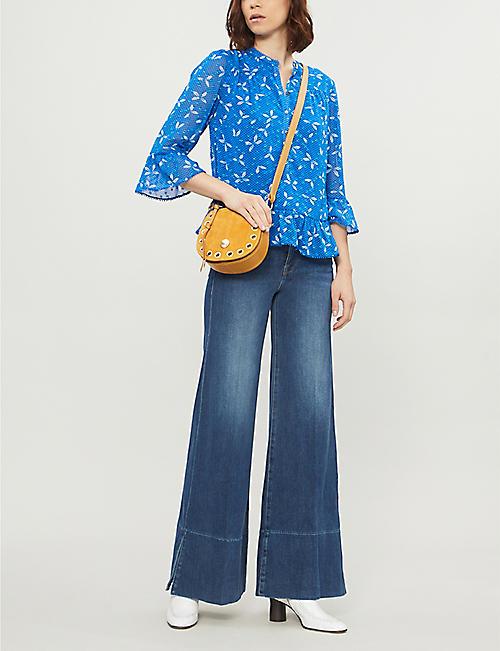 31e4f284d792 WHISTLES Polly polka dot woven blouse