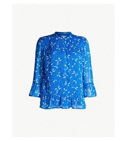15bb493f1b68d WHISTLES Polly polka dot woven blouse (Multi-coloured