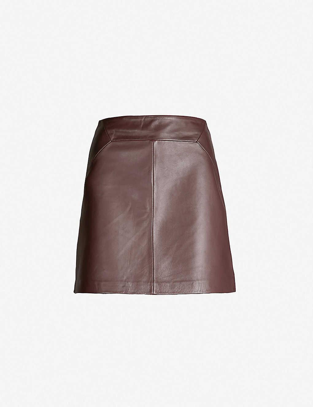 d0e3d84b6 WHISTLES - A-line leather skirt | Selfridges.com
