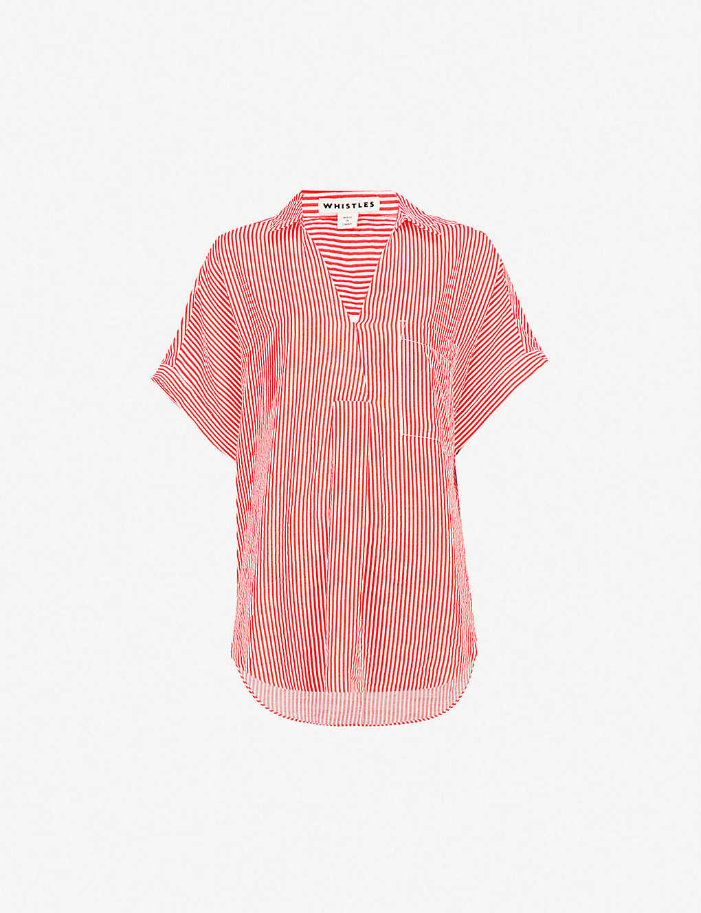 e4edc297de6620 WHISTLES - Lea striped woven shirt | Selfridges.com