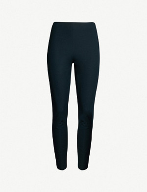 WHISTLES Skinny slim-fit stretch-cotton trousers