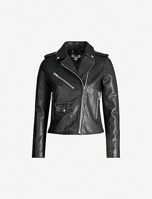 51d254994325 Leather jackets - Jackets - Coats & jackets - Clothing - Womens ...