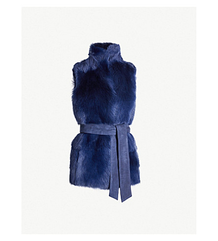 Belted Shearling Gilet by Whistles