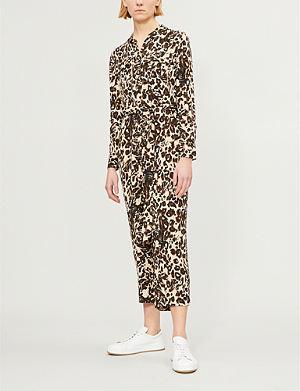 79b6388c41d1 WHISTLES - Armelle Capri floral-print crepe jumpsuit