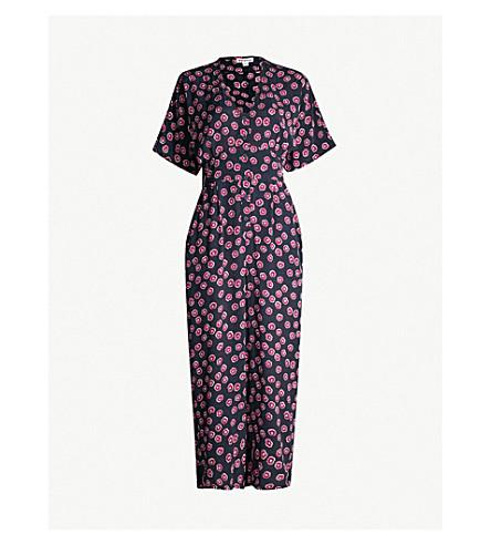 ca9d8c33510f WHISTLES - Floral-print wide-leg woven jumpsuit