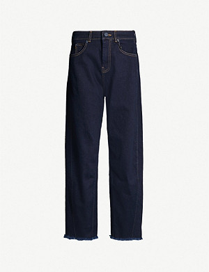 WHISTLES High-rise tapered jeans