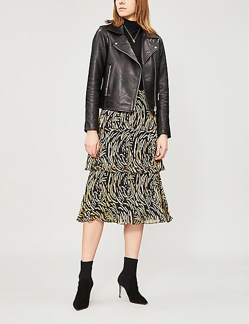 9a06dd95cbc0 WHISTLES Reed devoré frill-trimmed skirt · Quick Shop
