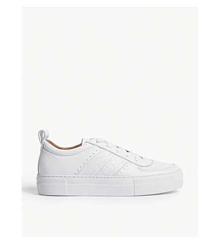 Whistles Anna flatform leather trainers