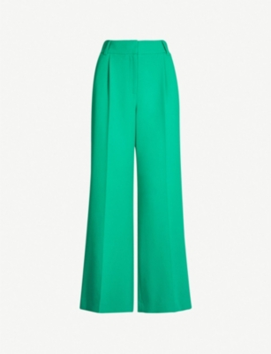WHISTLES Ash high-rise wide-leg woven trousers