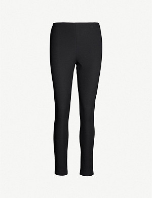 WHISTLES Skinny high-rise stretch-cotton trousers